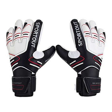 Youth&Amp;Adult Goalie Goalkeeper Gloves, Strong Grip For The Toughest Saves, With Finger Spines To Give Splendid Protection To Prevent Injuries 3 Colors(Size 7)