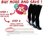 Compression Socks For Men &Amp; Women 20-30 Mmhg, Best Graduated Athletic Fit For Running Nurses Shin Splints Flight Travel &Amp; Maternity Pregnancy - Boost Stamina Circulation &Amp; Recovery Org Lxl