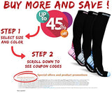 Compression Socks For Men &Amp; Women 20-30 Mmhg, Best Graduated Athletic Fit For Running Nurses Shin Splints Flight Travel &Amp; Maternity Pregnancy - Boost Stamina Circulation &Amp; Recovery Grn Lxl