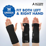 Atx Night Sleep Support Wrist Brace - Carpal Tunnel Relief - Fits Both Left &Amp; Right Hand - Removable Metal Splint And Cushioning Beads For Painless Sleep - Men And Women