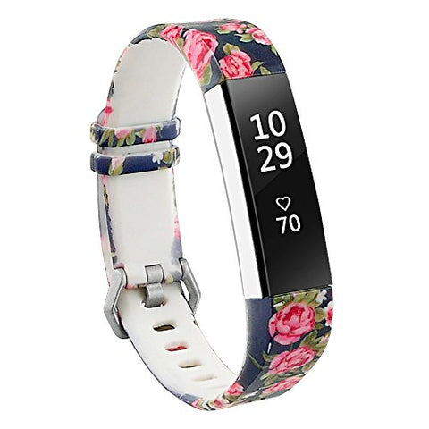 Redtaro Bands Compatible With Fitbit Alta/Fitbit Alta Hr,Blue Floral,Standard Size For 5.5 -8.1  Wrists