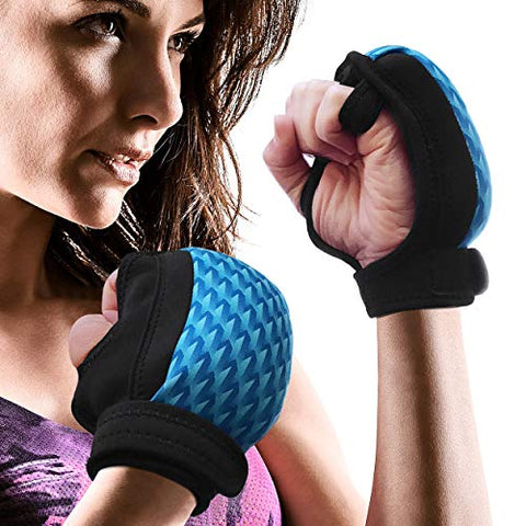 Empower Weighted Gloves For Women, Kickboxing, Mma, 4 Lb Set (2 Pounds Each Glove), Geo Blue
