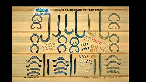 Mighty Bite Worm Kit + 90 Min. Worm Fishing Secrets Dvd &Amp; Video Instruction Manual