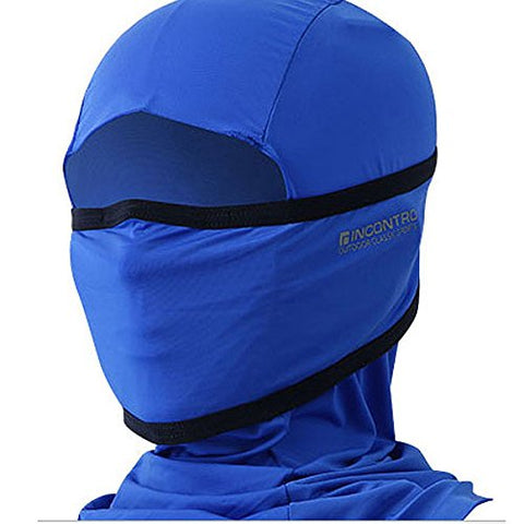 Incontro Outdoor Motorcycle Full Face Mask Balaclava Ski Neck Protection Clothing Neck Gaiter Bandana, Lightweight &Amp; Breathable Hiking, Outdoor, Fishing Mask, (Solid-Blue)
