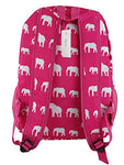 Nbn-E-P Big Trendy Backpack Pink Elephant Pattern