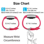 Poy Replacement Bands Compatible For Fitbit Charge 2, Classic &Amp; Special Edition Sport Wristbands, Rose Small, 1Pc
