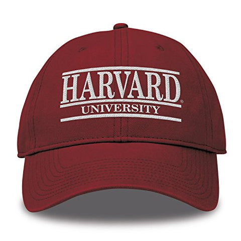 The Game Ncaa Harvard Crimson Bar Design Twill Hat, Cardinal, Adjustable