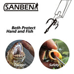 Sanben 13 Inch Fishing Hook Remover Squeeze-Out Fish Hook Tools,Flat And Pointed Head Design Dehooker (Silver)