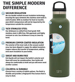 Simple Modern 20Oz Ascent Water Bottle - Hydro Vacuum Insulated Flask W/Handle Lid - Double Wall Stainless Steel Reusable - Leakproof -Pine
