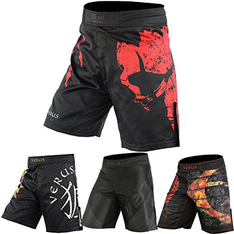 Verus Mma Grappling Shorts Kick Boxing Cage Fight Muay Thai Training Martial Art (Medium, Beast)