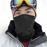 Jiusy - Lightweight Soft Neck Gaiter Neck Warmer Face Mask Windproof Protection Cover For Motorcycle Cycling Fishing Hunting Hiking Riding Climbing Ski Snowboard Outdoor Sports Black And Tan