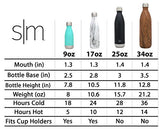 Simple Modern Stainless Steel Vacuum Insulated Double-Walled Wave Bottle, 9Oz - Simple Stainless