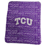 Logo Brands Ncaa Tcu Horned Frogs Classic Fleece, One Size, Purple