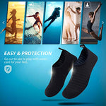 Simari Anti Slip Water Shoes For Women Men Summer Outdoor Beach Swim Surf Pool Sws001 Stripe Black 8-9