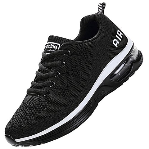 Jarlif Men'S Lightweight Athletic Running Shoes Breathable Sport Air Fitness Gym Jogging Sneakers (9.5 D(M) Us, Black)