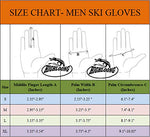 Highloong Mens Ski Snowboard Gloves Waterproof,Thinsulate, Melange Fabric Winter Cold Weather Gloves (Melange 2-Pair L)
