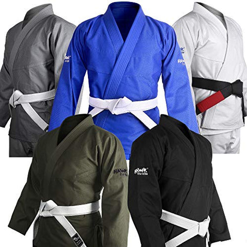 Brazilian Jiu Jitsu Gi Bjj Gi For Men &Amp; Women Uniform Kimonos Ultra Light, Preshrunk, Free White Belt!!! (Black, A2)