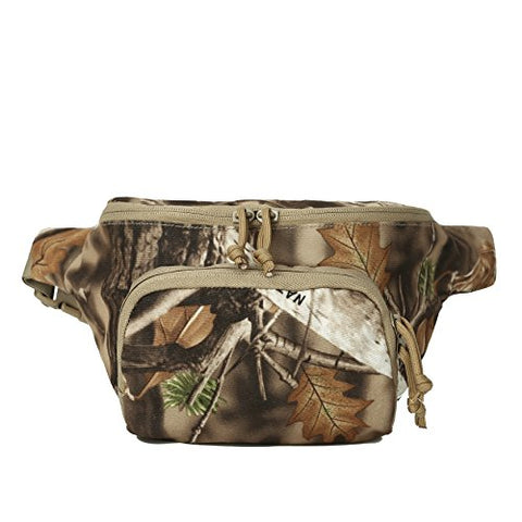 Auscamotek Hunting Camo Fanny Pack Camouflage Waist Bag For Hunters Waterproof