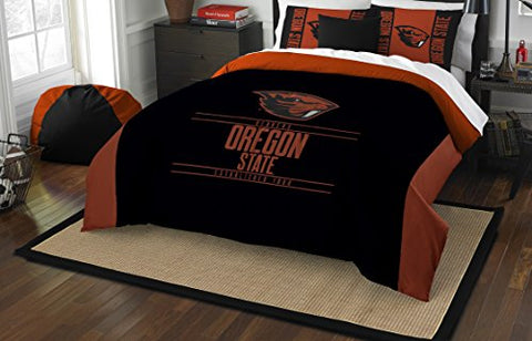 The Northwest Company Officially Licensed Ncaa Oregon State Beavers Modern Take Full/Queen Comforter And 2 Sham Set