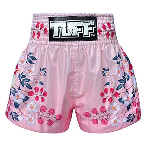 Tuff Boxing Muay Thai Shorts Trunks (Tuf-Ms632-Pnk, M)