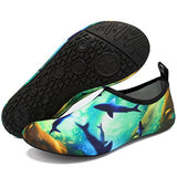 Vifuur Water Sports Shoes Barefoot Quick-Dry Aqua Yoga Socks Slip-On For Men Women Kids Ocean-44/45