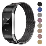 Swees Metal Bands Compatible Fitbit Charge 2, Milanese Stainless Steel Metal Magnetic Replacement Wristband Small &Amp; Large (5.5  - 9.9 ) For Women Men, Silver, Champagne, Rose Gold, Black, Colorful
