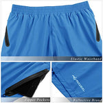 Mucubal Men'S Athletic Running Shorts Lightweight And Quick Dry Workout Shorts With Zipper Pockets(Blue)