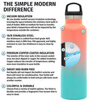 Simple Modern 32Oz Ascent Water Bottle - Hydro Vacuum Insulated Flask W/Handle Lid - Double Wall Stainless Steel Reusable - Leakproof Ombre: Havana