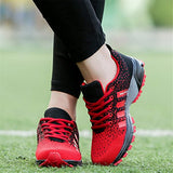 Kubua Mens Running Shoes Trail Fashion Sneakers Tennis Sports Casual Walking Athletic Fitness Indoor And Outdoor Shoes For Men F Red Women 9.5 M Us/Men 8 M Us