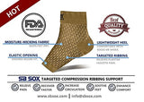 Sb Sox Compression Foot Sleeves For Men &Amp; Women - Best Plantar Fasciitis Socks For Plantar Fasciitis Pain Relief, Heel Pain, And Treatment For Everyday Use With Arch Support (Nude, Medium)
