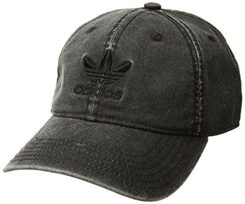 Adidas Men'S Originals Relaxed Strapback Cap, Charcoal Grey, One Size
