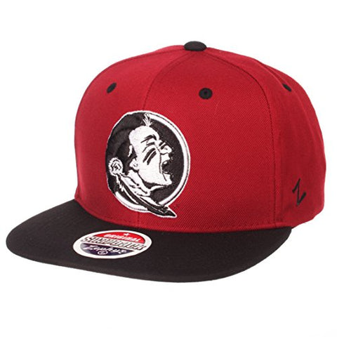 Zhats Ncaa Florida State Seminoles Men'S Z11 Static Snapback Hat, Adjustable, Black/Team Color