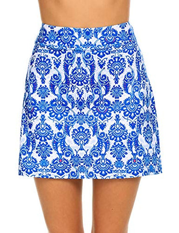 Ekouaer Skort For Women Lightweight Skirt Golf Workout Sports Outdoors (Pattern/Xl)
