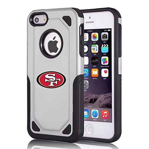 49Ers Iphone 6S Plus Tough Electroplate Case, 3 In 1 Ultra-Thin Smooth Anti-Scratch Pc Hard Back Case Full Cover For Iphone 6 Plus / Iphone 6S Plus- Silver
