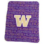 Logo Brands Ncaa Washington Huskies Classic Fleece, One Size, Purple