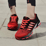 Kubua Mens Running Shoes Trail Fashion Sneakers Tennis Sports Casual Walking Athletic Fitness Indoor And Outdoor Shoes For Men F Red Women 10.5 M Us/Men 8.5 M Us