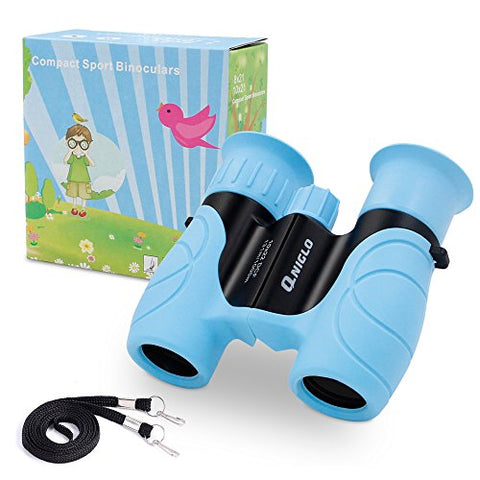 Binoculars For Kids Shock Proof 10 X 22 High Resolution Real Optics Outdoor Explore Toys For Kids Children Toys Gift For Kids (Blue)