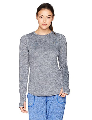 Under Armour Women'S Coldgear Armour Fitted Long Sleeve Shirt,True Gray Heather /Metallic Silver, X-Small