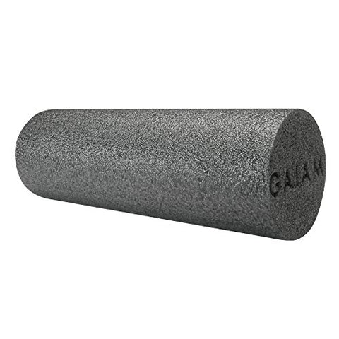 Gaiam Restore Muscle Therapy Foam Roller, Grey, 18