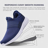 La Moster Men'S Athletic Running Shoes Fashion Sneakers Casual Walking Shoes For Men Tennis Baseball Racquetball Cycling (45 M Eu /11 D(M) Us, Blue/White)