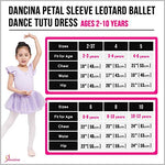 Dancina Toddler Ballet Leotard Dress Petal Sleeve Full Front Lining 2-3T Ballet Pink