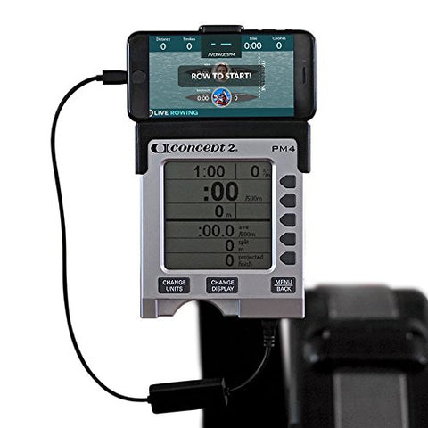 Liverowing Concept 2 Connector For Apple Smartphones - Rowing Machine Accessories For Your Pm3, Pm4, Pm5 Erg Machine - Plus Free Liverowing App - (Cradle Not Included, For Apple Devices Only)