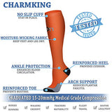 Charmking Compression Socks 15-20 Mmhg Is Best Graduated Athletic &Amp; Medical For Men &Amp; Women Running, Travel, Nurses, Pregnant - Boost Performance Blood Circulation &Amp; Recovery(Large/X-Large,Assorted 2)