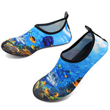 Vifuur Unisex Quick Drying Aqua Water Shoes Pool Beach Yoga Exercise Shoes For Men Women Deepsea-40/41