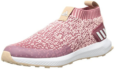 Adidas Unisex Rapidarun Laceless Running Shoe, Trace Maroon/Clear Orange/Ash Pearl, 6 M Us Big Kid