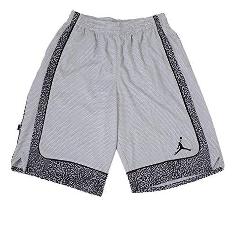 Jordan Nike Boys' Elephant Print Dri-Fit Basketball Shorts (7, Wolf Grey)