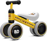 Baby Toddler Tricycle Bike No Pedals 10-24 Months Ride-On Toys Gifts Indoor Outdoor For One Year Old Boys Girls First Birthday Thanksgiving Christmas Yellow Duck