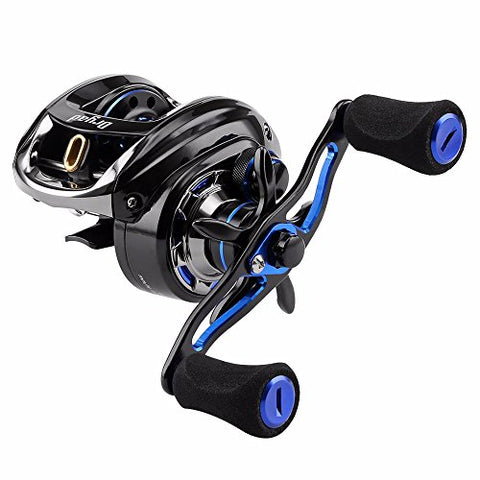 Seaknight Dryad Saltwater Fishing Reel-7.6:1 Gear Ratio, 7Oz Lightweight, 11Lb Carbon Fiber Drag Baitcasting Reel