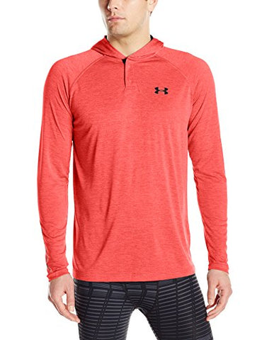 Under Armour Men'S Tech Popover Hoodie,Marathon Red (963)/Anthracite, Large