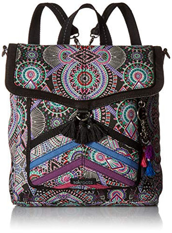 Sakroots Unisex-Adults Colette Convertible Backpack, Onyx Wanderlust